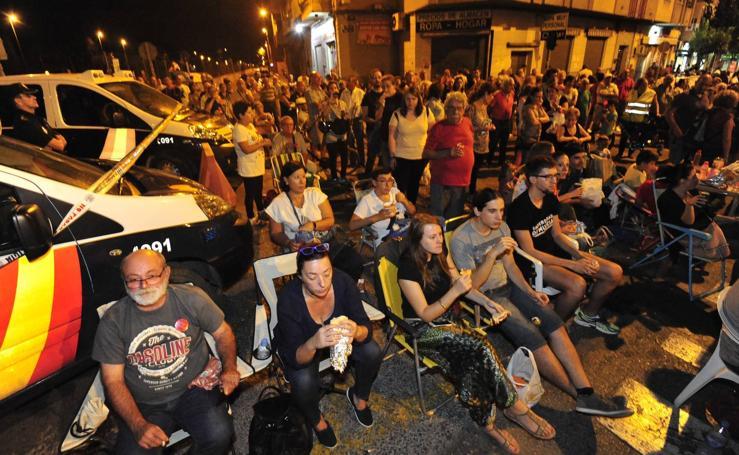 Decimoctava jornada de protestas por el soterramiento en Murcia