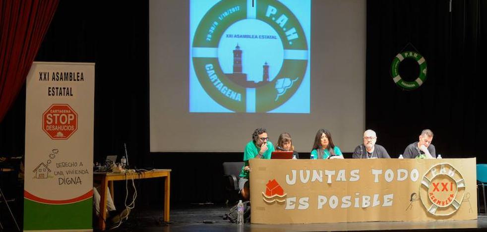 Las Plataformas de Afectados por la Hipoteca ultiman en Cartagena su propuesta de ley de vivienda