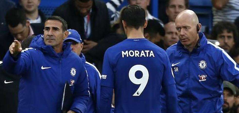 Morata se lesiona en el duelo ante el Manchester City