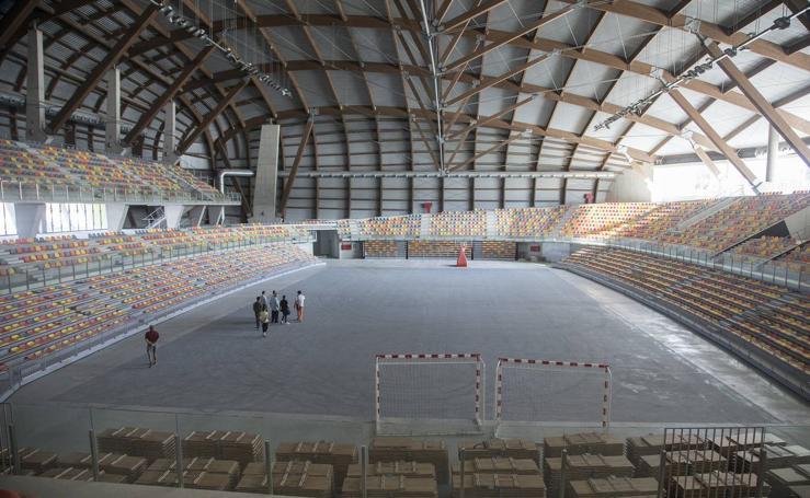 Así está el Palacio de Deportes de Cartagena