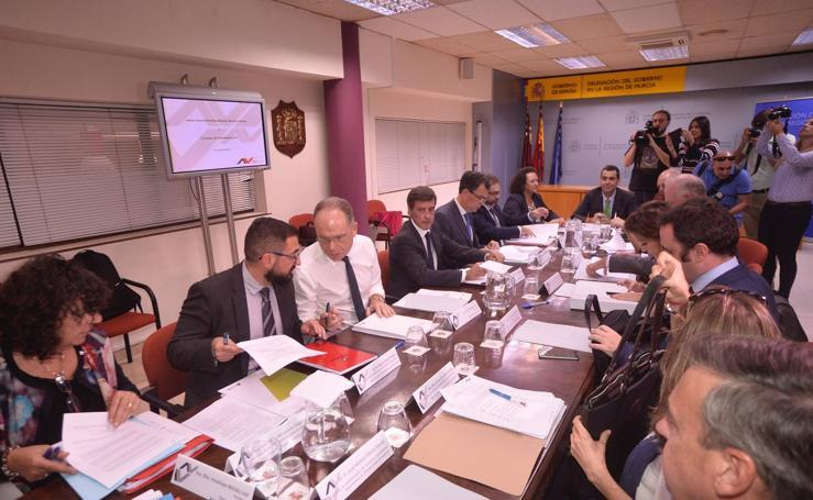 Murcia Alta Velocidad se compromete a concluir en 2023 el soterramiento entre Tiñosa y Barriomar
