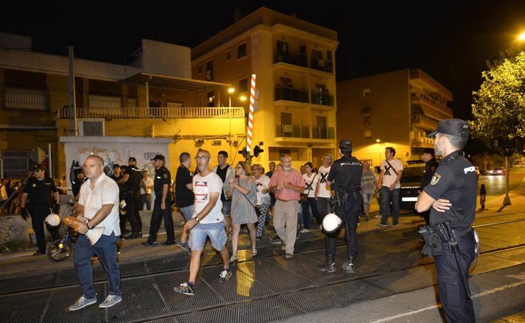 Nueva protesta por el soterramiento en Murcia