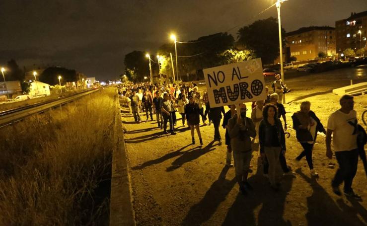 Veinticinco días consecutivos de protestas de los vecinos de las vías