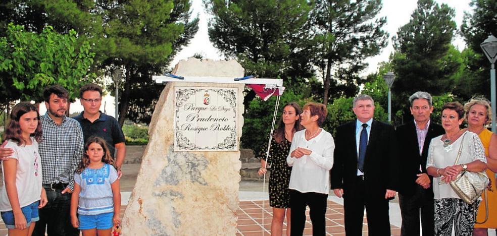 Un parque para recordar el legado de Prudencio Rosique