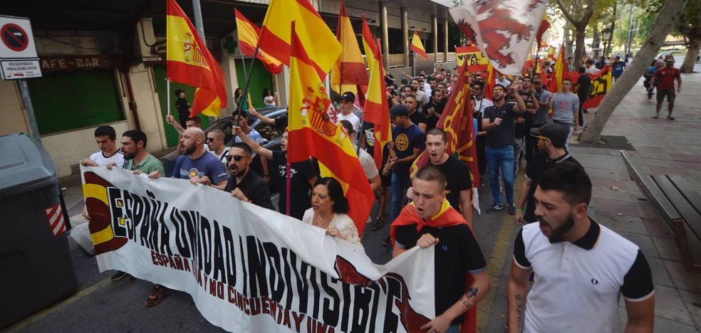 La extrema derecha clama en Murcia por la «unidad indivisible» de España