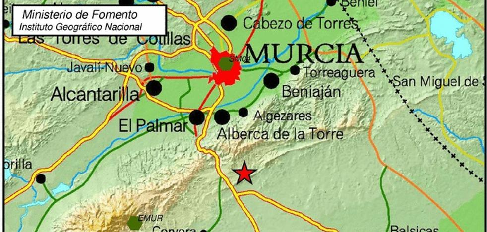 Un temblor de 2,7 grados se deja sentir en Murcia