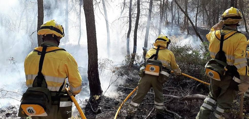 Controlado un incendio forestal en el área recreativa El Piojo de Cehegín