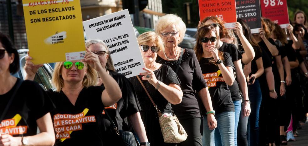 Marcha solidaria contra la trata de seres humanos