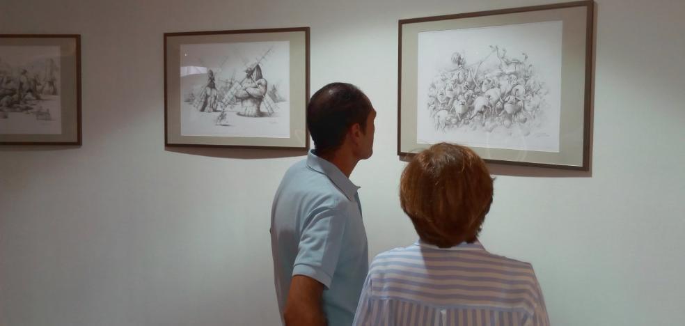 Dibujos de 'Don Quijote' en la Biblioteca Regional