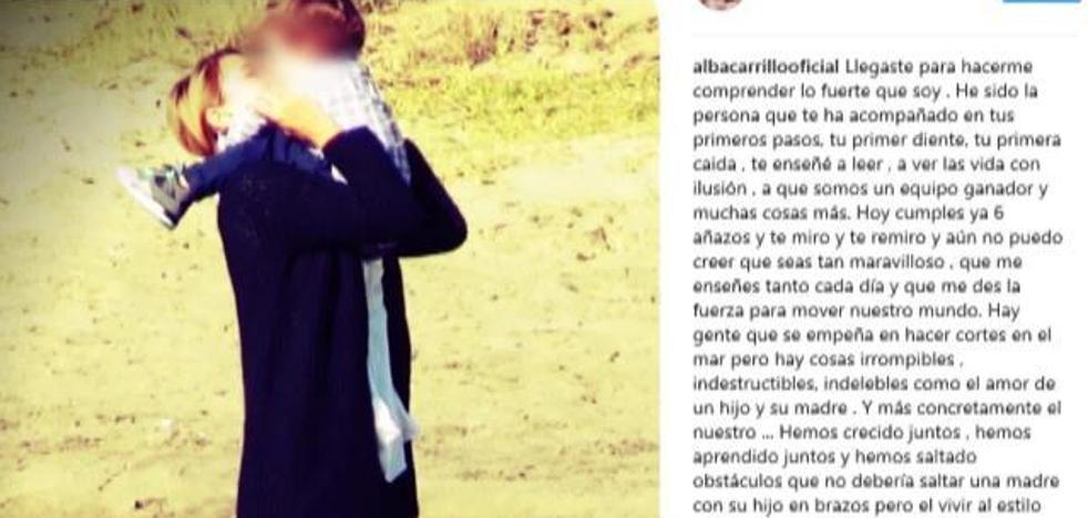 Alba Carrillo 'envenena' la felicitación a su hijo Lucas