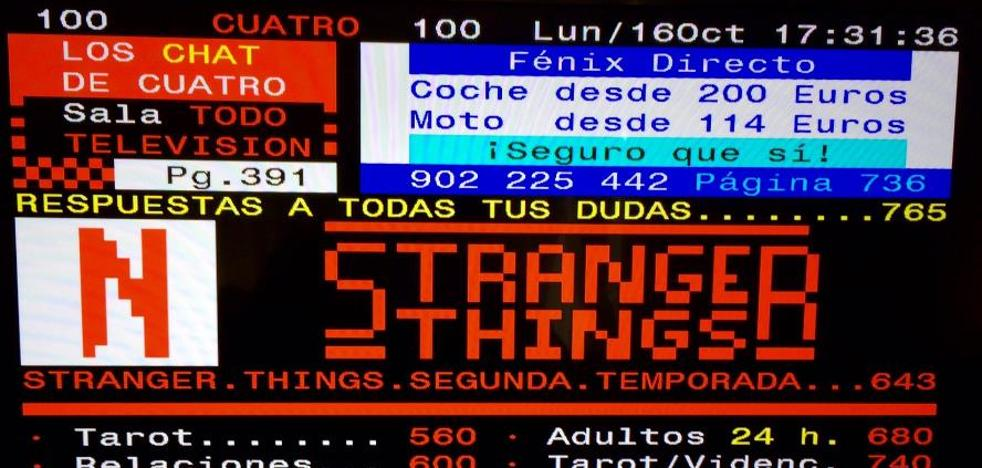 'Stranger Things' en el Teletexto
