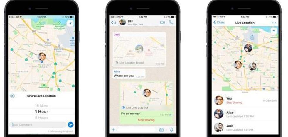 Cómo activar (y desactivar) la opción de seguimiento en tiempo real en WhatsApp