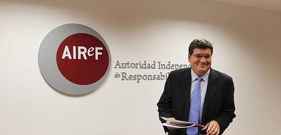 AIReF recomienda a Murcia y otras cuatro comunidades ajustar sus presupuestos