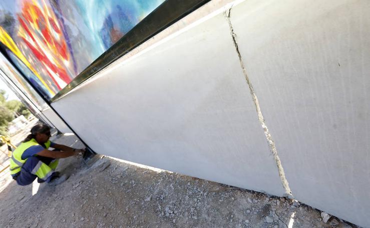 Los vándalos causan de nuevo cuantiosos destrozos en las obras del AVE