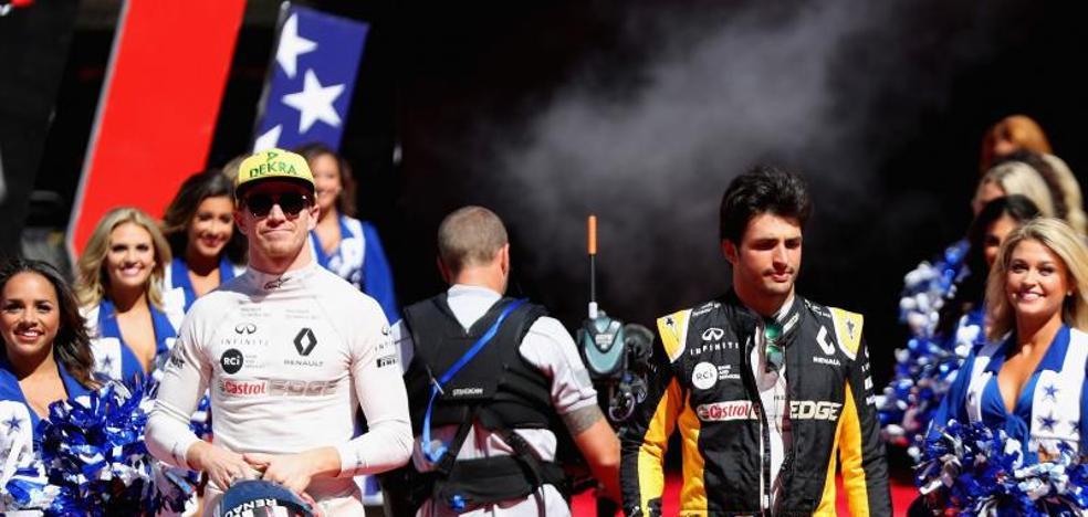 Carlos Sainz ya hace sonreír a Alain Prost
