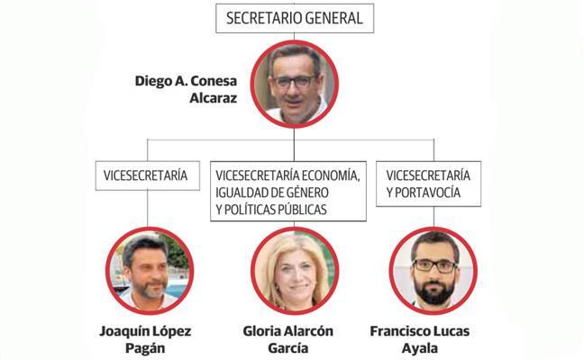 Conesa logra un 75% de apoyos para la nueva ejecutiva gracias a la integración