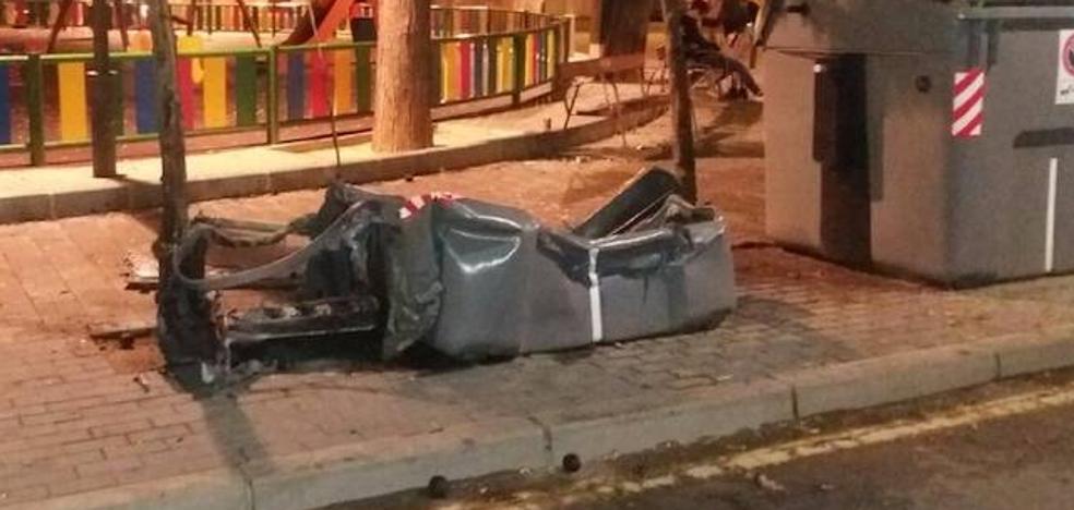 Detenido un vecino de Alicante por la quema de varios contenedores en Murcia