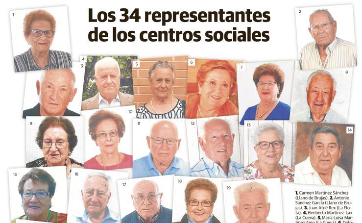 Representantes de los centros sociales de Murcia