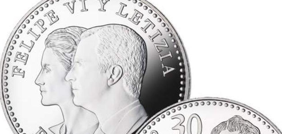 Monedas de 30 euros para conmemorar el 50 cumpleaños de Felipe VI