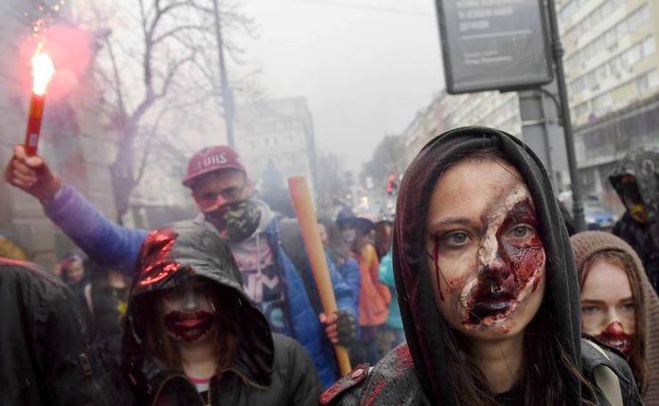 Los zombis invaden Kiev