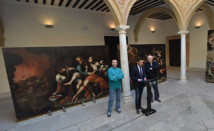 El Palacio de Guevara recupera tres valiosas obras del pintor Camacho Felizes