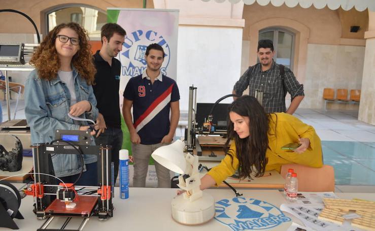 Impresoras de caramelo e interruptores mecánicos, entre los inventos de los estudiantes de la UPCT
