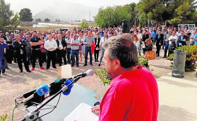 Regantes del Trasvase en Calasparra y Cieza exigen la apertura de los pozos