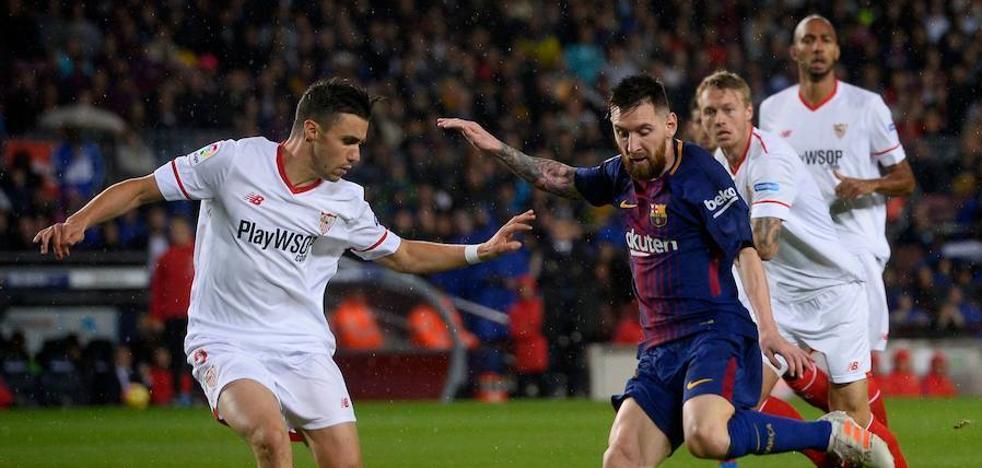 Alcácer se viste de 'killer' en la fiesta de Messi
