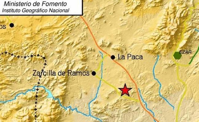 Un terremoto de 2,2 grados de magnitud se registra entre La Paca y Zarcilla
