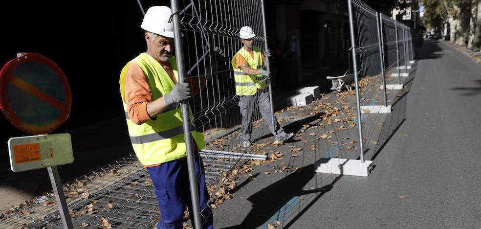 Comienzan los trabajos previos a la peatonalización de Alfonso X