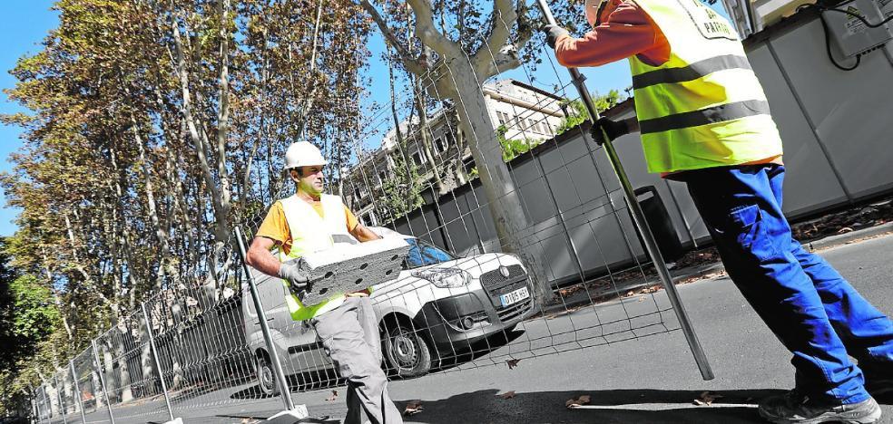 Comienzan las obras previas a la peatonalización de Alfonso X