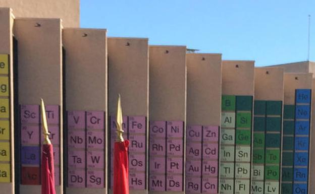 Una tabla peridica de rcord en la fachada de la facultad de una tabla peridica de rcord en la fachada de la facultad de qumica urtaz Images