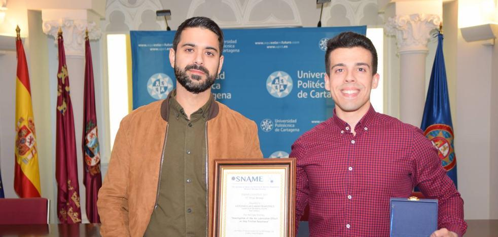 Un alumno de la UPCT gana un concurso norteamericano de investigación de ingeniería naval