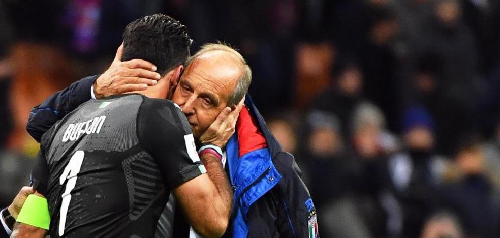 Ventura paga el fracaso mundialista de Italia
