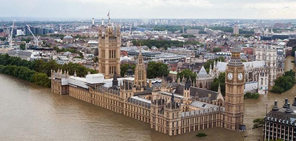 Así podría arrasar el calentamiento global ciudades como Londres