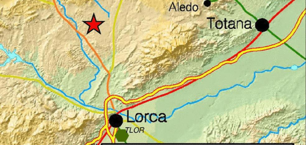Lorca registra un temblor de 1,6 grados durante la madrugada