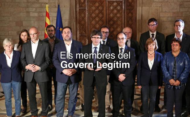 El 'Govern legítimo' borra a Santi Vila de la foto en su nueva web
