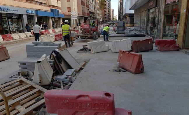 Las obras de remodelación del centro de Lorca provocarán cortes de agua el próximo martes