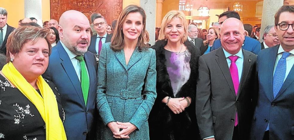 Murcia expone ante la Reina su plan para víctimas de maltrato con discapacidad