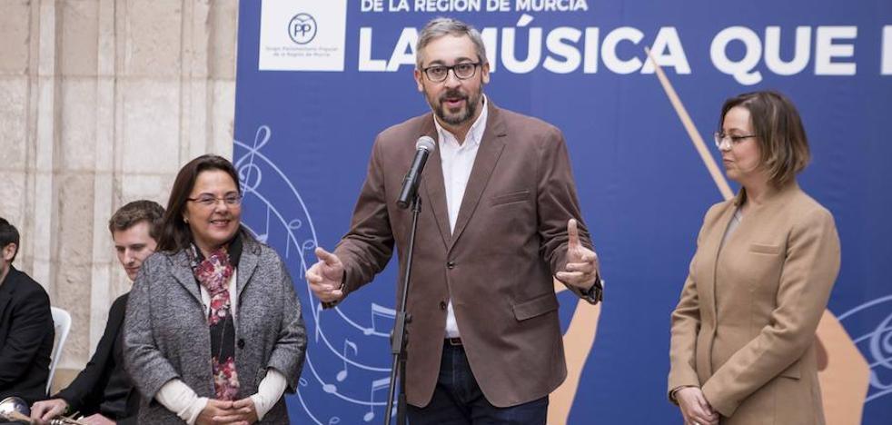 El PP presenta una ley que «proteja y potencie» la riqueza musical de la Región