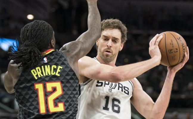 Pau Gasol, Rubio e Ibaka destacan en las victorias de los Spurs, Jazz y Raptors