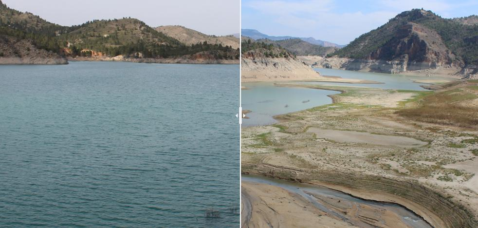 El antes y el después de los embalses del Segura