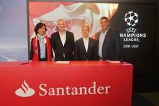 El Santander, nuevo patrocinador de la Champions