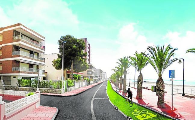 La reforma del frente marítimo de Villananitos incluye un carril bici y menos aparcamientos