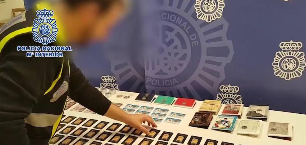 Detenido un presunto estafador que ocultaba en Murcia lingotes de oro falsos para venderlos 'online'