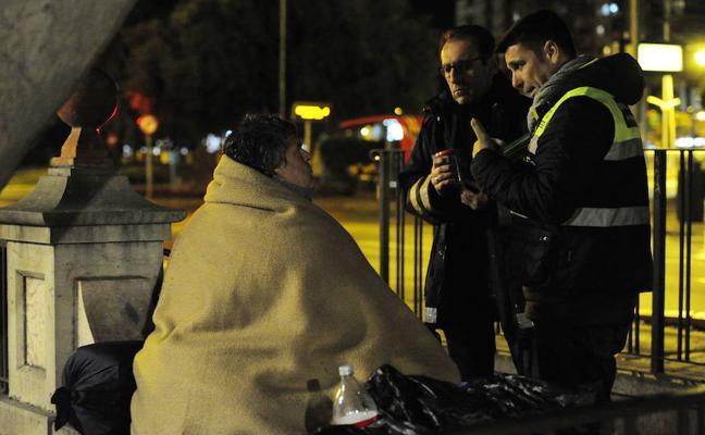 Atendidos 16 'sin techo' por el frío en las calles de Murcia durante la última semana