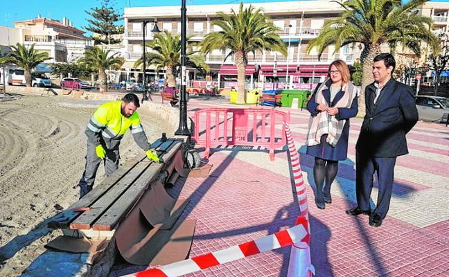 Fomento inicia las obras de mejora en el paseo marítimo de Villananitos