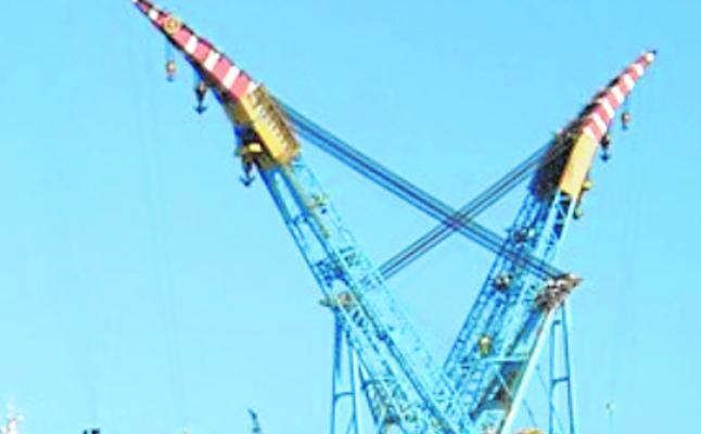 La segunda grúa marina más grande del mundo será reparada en el puerto