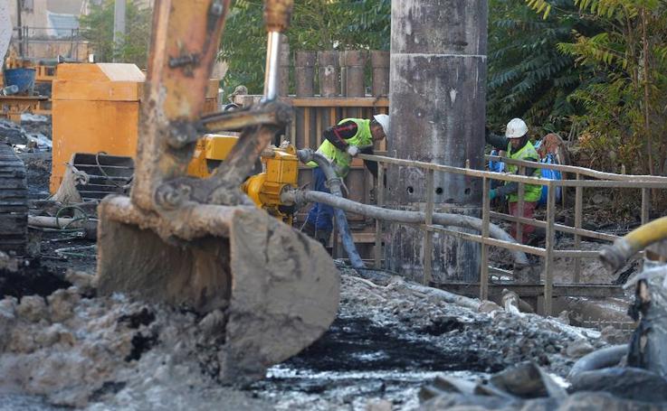 Obras del soterramiento ferroviario en Murcia