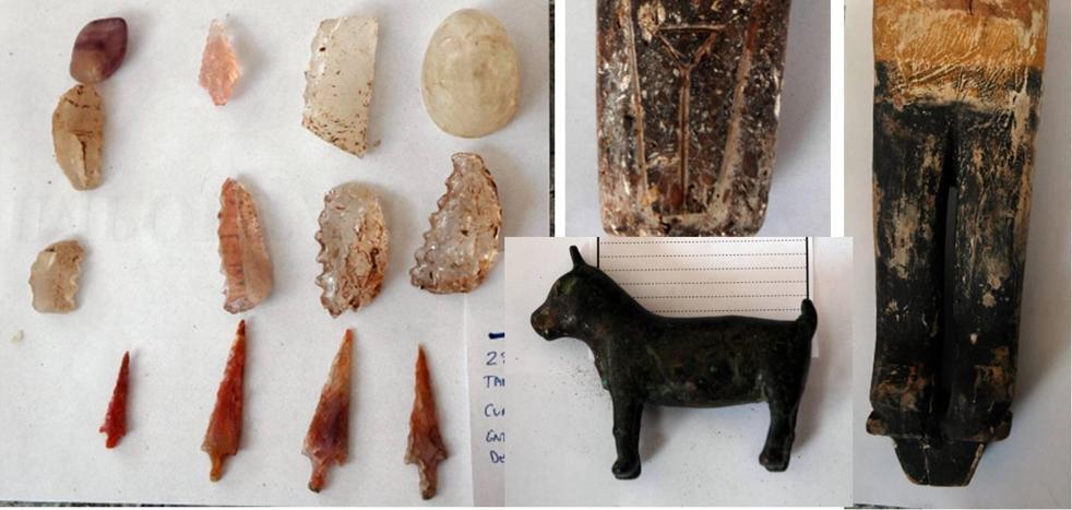 Recuperan piezas arqueológicas de gran valor robadas en Murcia que se vendían a través de internet